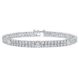 Jewelry - Prong Set Round Cut 8.50 Carats Double Row Diamond